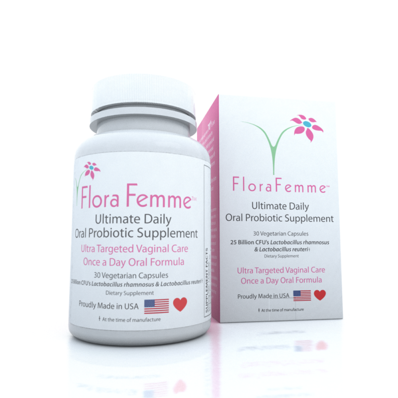 FloraFemme Ultimate Daily Oral Probiotic Supplement